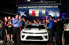 2016 Camaro Rolls Off Production Line At Lansing GM Assembly Plant