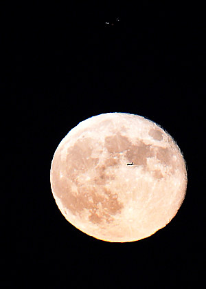 Supermoon Appears Big And Bright In Night Sky